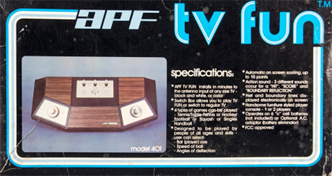 APF tv fun model 401