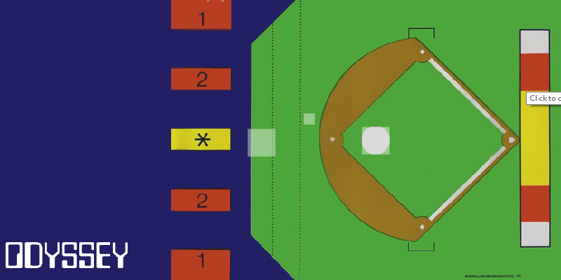 The First Baseball Game ever made<br/> on the Magnavox Odyssey gaming console