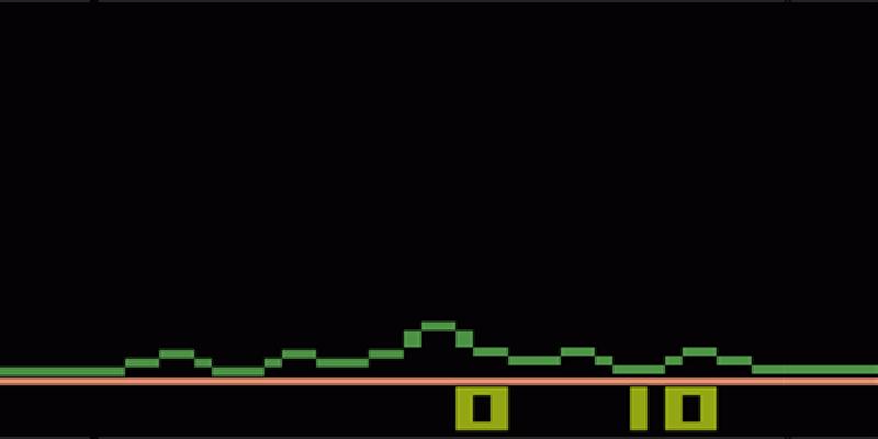 Astroblast the game on Atari 2600