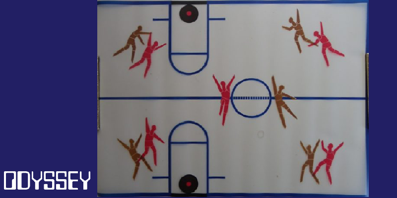 Basketball on the Magnavox Odyssey Home Gaming Station